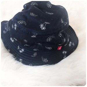 Vans navy blue palm tree print bucket hat